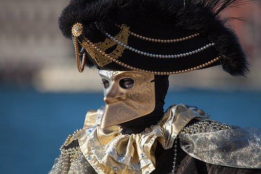People, Venice, Costume, Portrait, Nose
