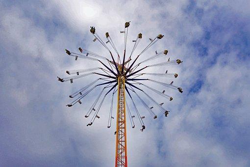 Oktoberfest, Munich, Chain Carousel, Carousel, Sky