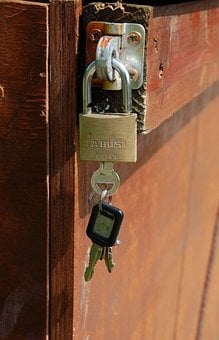 Door, Security And Surveillance, Wood, Lock, Padlock