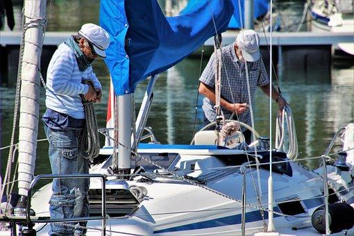 Para, Senior, People, Male, Sailboat, Equipment, Rope