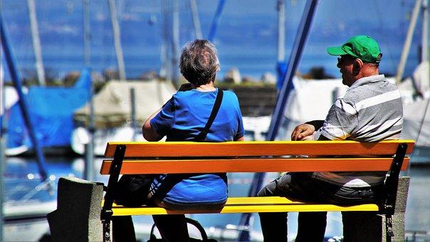 Para, Senior, Relaxation, Lake, Male, People