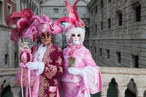 Costume, Venice, Carnival, People