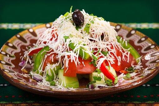 Food, Plate, Salad, Vegetables, Restaurant Food, Dinner