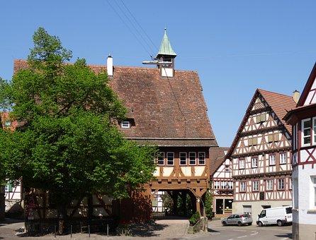 Wine City, Fachwerkhaus, Town Hall, Remstal