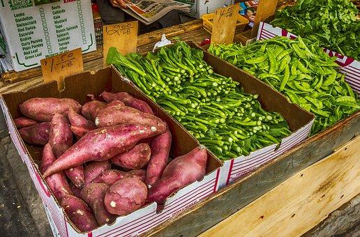 Market, Food, Vegetable, Sale, Stock, Chinatown
