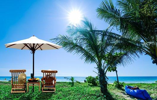 Tropical, Beach, Relaxation, Summer, Sand, Seashore