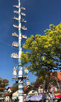 Sky, Building, Travel, City, Large, Tree, Maypole