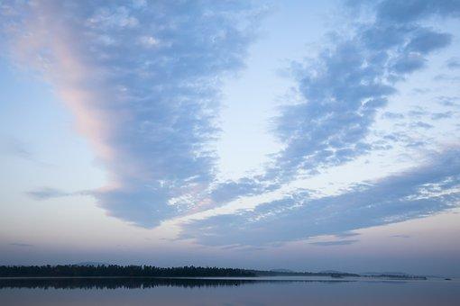 Nature, Sky, Summer, Morning, Sunrise, Mist, Stone