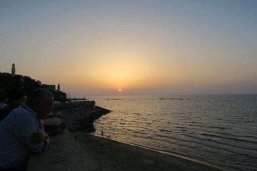 Sunset, Marine, Jaffa, Cami, Church