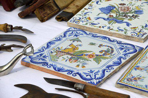 Tile, Tile Faience, Kitchen, Decorative, At The Age Of