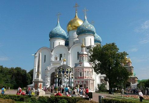 Russia, Sergiev Posad, Trinity-sergius Lavra, Showplace