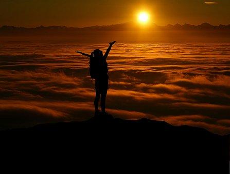 Raise, Challenge, Landscape, Mountain, Tourist, View