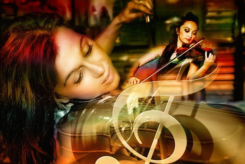 Violin, Music, Composing, Human, Woman, Vibration