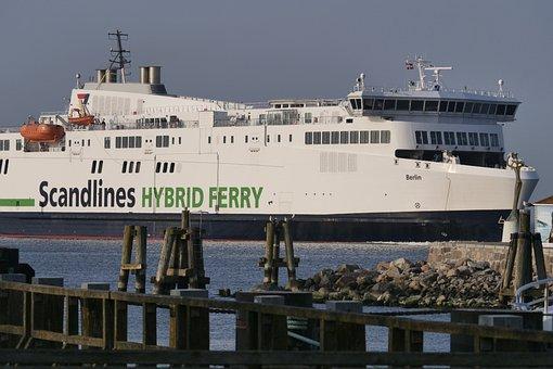 Waters, Ship, Ferry, Scandlines, Hybrid Ferry