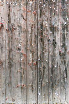 Wooden Boards, Staples, Paper Scraps, Old, Weathered