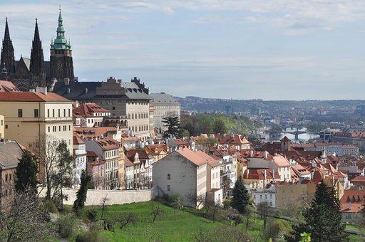 Prague, Architecture, City, Church, Home