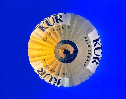 Balloon, Hot Air Balloon Ride, Blue, Gold, Violet