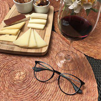 Wine, Alcoholic Drink, Cheese, Glasses, Table, Bowl