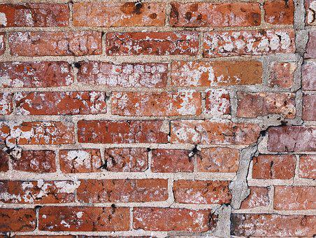 Brick, Wall, Cement, Dirty, Concrete, Brickwork, Old