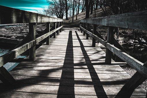 Wood, Bridge, Outdoors, Nature, Lake Ontario