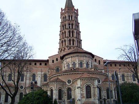 Architecture, City, Travel, Church, Saint-sernin
