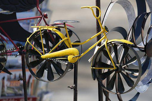 Wheel, Bike, Wheels, Metal, Cycling, Colorful Bike, Art