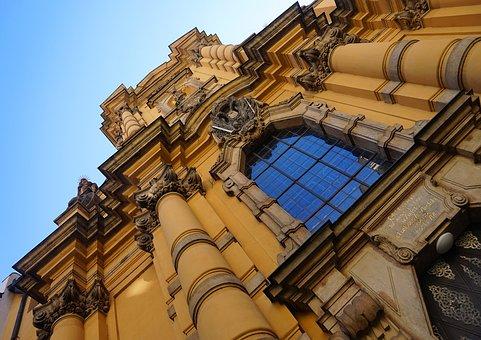 Church, Prague, Czechia, Baroque, Architecture