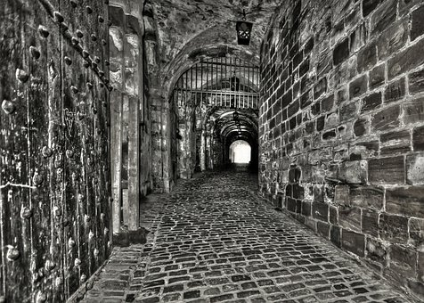 Tunnel, Pierre, Darkness, Vault, Wall, Black And White