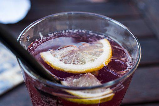 Drink, Lemon, Ice, Straw, Water, Juice, Drop