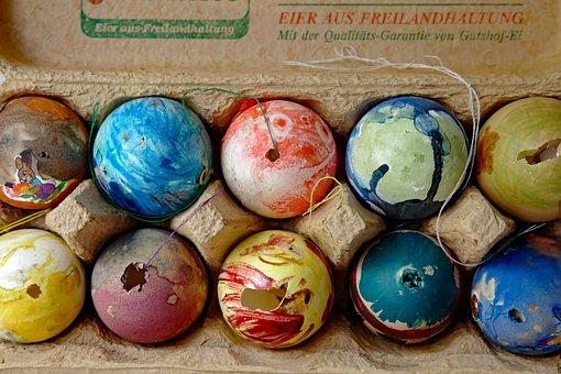 Easter Egg, Easter Eggs, Old, Egg, Paint, Nostalgic