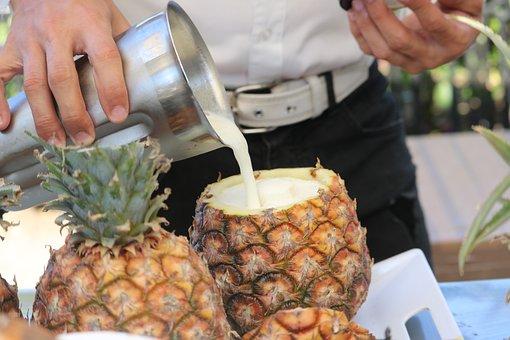 Food, Pineapple, Cocktail, Bartender, Fruit, Exotic