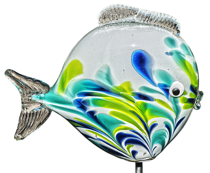 Fish, Glass Fish, Garden Decoration, Farbenpracht