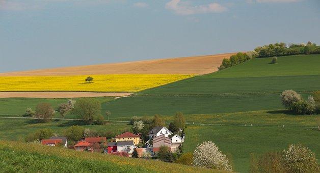 Nature, Grass, Panorama, Landscape, Sky, Village