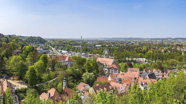 Landshut, Dult, Green, Trees, Beautiful, Spring, Frisch