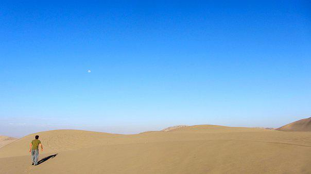 Desert, Nature, Sky, Sand, Dry, Loneliness, Hot