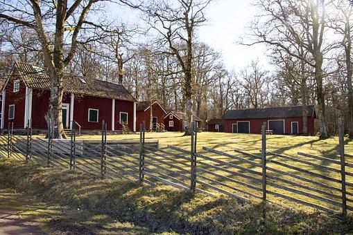 Fence, Wood, Tree, House, Outdoor, The Garden Farm