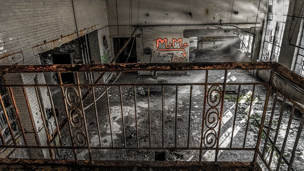 Leave, Industry, Steel, Concrete, Rusty, Iron, Graffiti