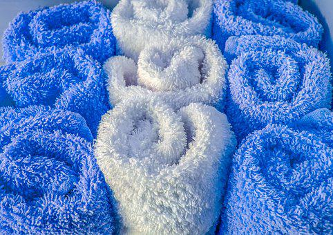 Wool, Fluffy, Towel, Cotton, Pattern, Rolled, White