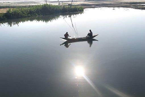 Water, Lake, Reflection, Transportation System, River