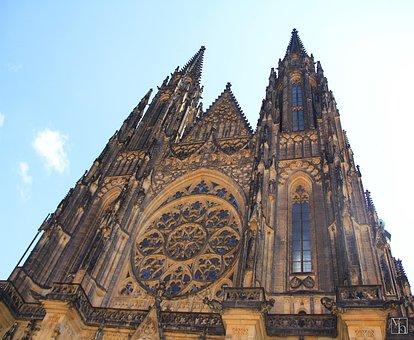 Prague, Cathedral, Czechia, Church, Religion