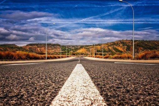 Road, Asphalt, Mark, Landscape, Away, Lonely, Freedom