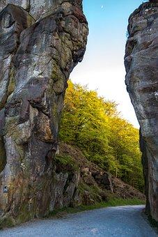 Externsteine, Stones, Sandstone Rocks, Rock, Sacral