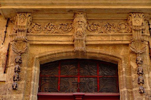 Door, Wood, Sculpture, Stone, Face, Entrance, Doorway