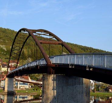 Bridge, Sunset, Arch, Dusk, Bridge Construction