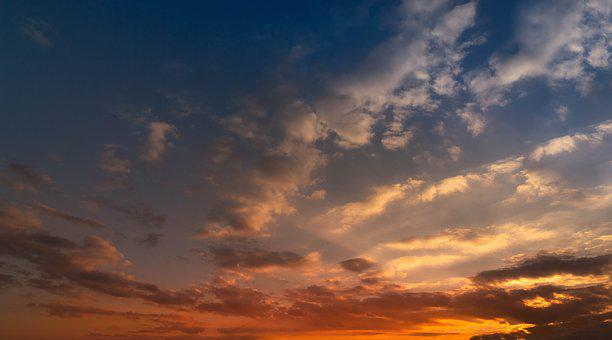 Sunset, Sky, Landscape, Clouds, Weather, View