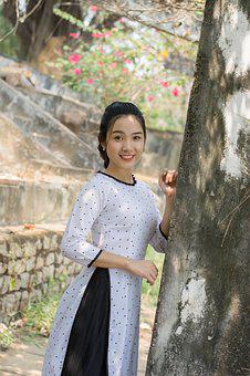 Tenderness, Long Coat, Girl, Vietnam, Graceful, Girly
