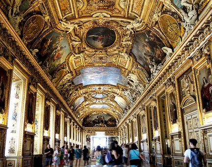 Louvre, Travel, Architecture, Ceiling, Indoors, Column