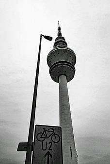 Tv Tower, Hamburg, Architecture, Sky