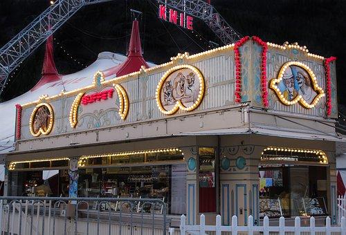 Knee, Circus, Lights, Lamps, Vintage, Clown, Buffet