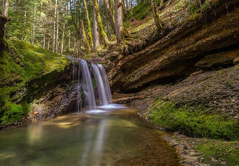 Nature, Waters, Wood, Waterfall, Travel, Landscape